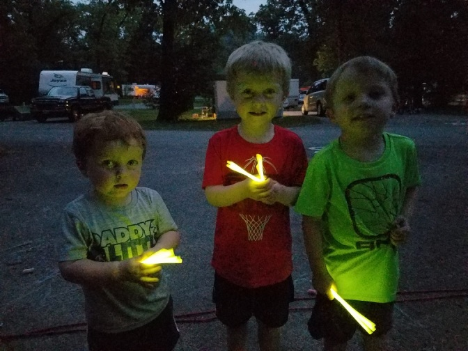 campsite glowsticks