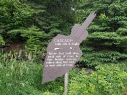 Cascade Falls Sign
