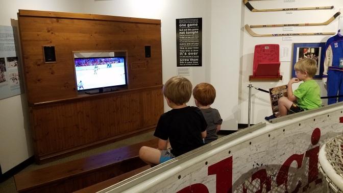 boys watching video