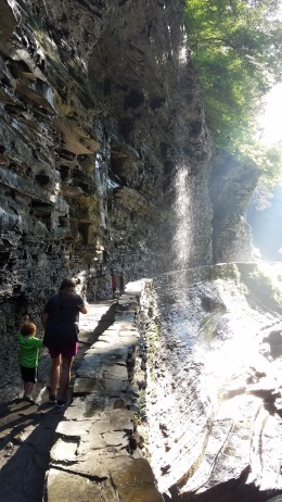 walk behind waterfall
